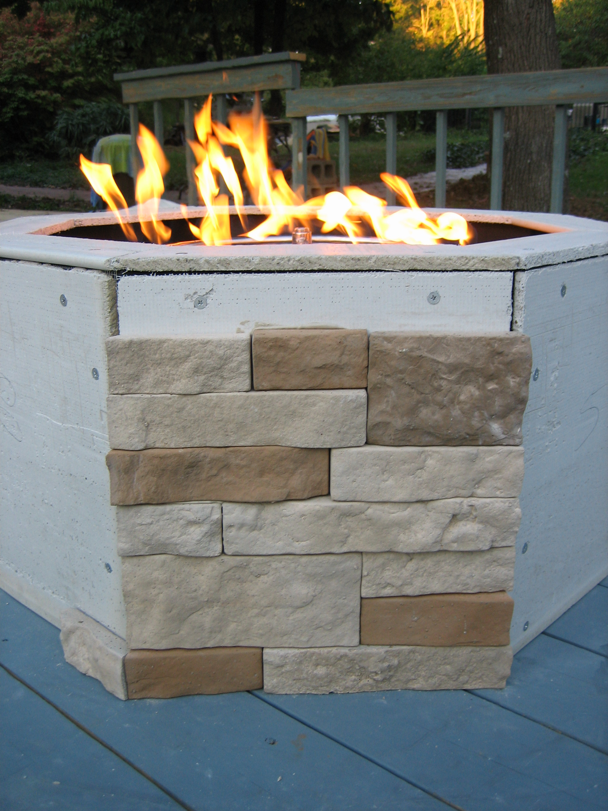 Building the firepit welcome to corny 39 s world - Airstone exterior adhesive alternative ...